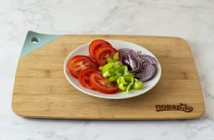 Вегетарианская пицца без дрожжей - фото шаг 5