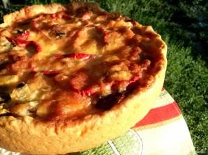 Пирог с баклажанами и куриной грудкой - фото шаг 7