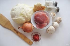 Голубцы с фаршем и грибами - фото шаг 1