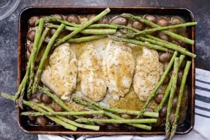 Куриная грудка с овощным гарниром - фото шаг 4