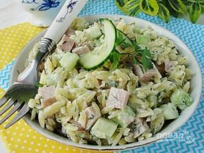 Салат с ветчиной и огурцом - фото шаг 4