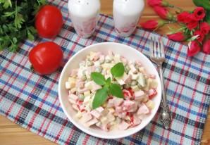 Салат с помидорами, сыром и зеленым горошком - фото шаг 9