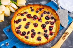 Пирог с голубикой и сметанной заливкой - фото шаг 9