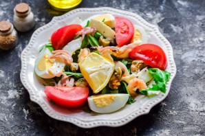 Салат с морским коктейлем и рукколой - фото шаг 6