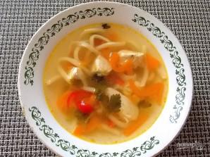 Овощной куриный суп - фото шаг 7