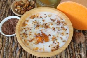 Каша из тыквы с семенами льна и орехами - фото шаг 6