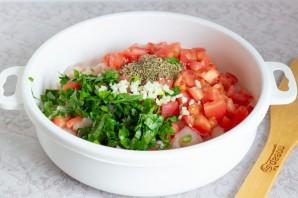 Куриные оладьи с помидорами и базиликом - фото шаг 3