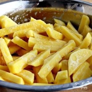 Жареный в духовке картофель со специями - фото шаг 5