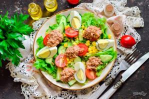 Испанский салат с тунцом - фото шаг 8