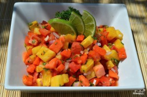 Сальса из ананаса и папайи - фото шаг 6
