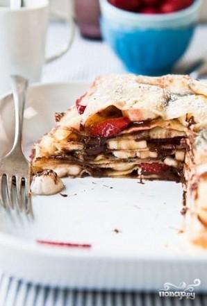 Блинный торт с клубникой - фото шаг 3