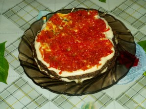 Печеночный пирог слоями - фото шаг 15