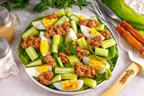 Низкокалорийный салат с тунцом - фото шаг 6