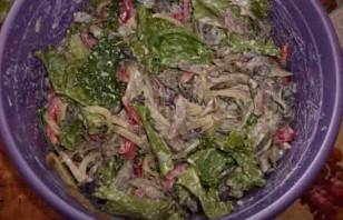 Салат из говядины и грибов - фото шаг 3