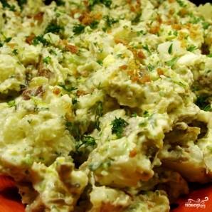 Картофельный салат с беконом - фото шаг 9