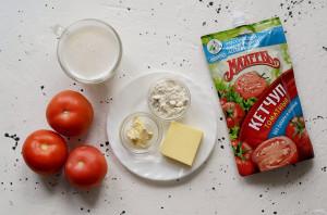 Суп с помидорами, сыром и кетчупом - фото шаг 1