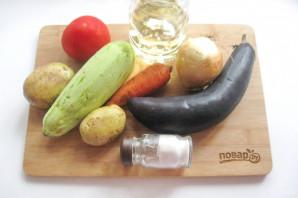 Соте из баклажанов и картофеля - фото шаг 1