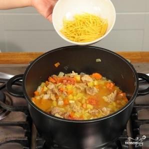 Лапша с говядиной и овощами - фото шаг 5