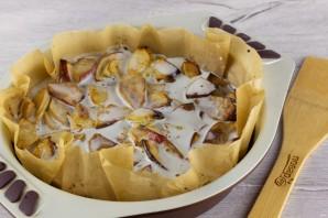 Яблочный пирог (мало теста, много яблок) - фото шаг 7
