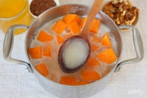 Каша из тыквы с семенами льна и орехами - фото шаг 4