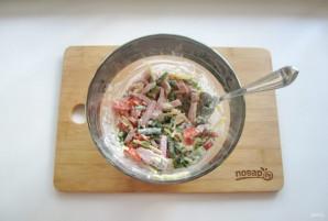 Салат из спаржевой фасоли с ветчиной - фото шаг 6