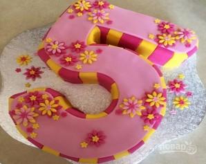 Торт для девочки на 5 лет - фото шаг 6