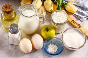 Оладьи на кокосовом молоке с яблоками - фото шаг 1