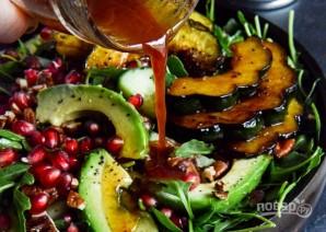 Салат из тыквы и рукколы с орехами и гранатом - фото шаг 5