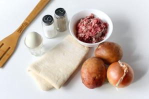 Конвертики с мясом и картошкой - фото шаг 1