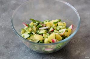 Постный салат с черемшой - фото шаг 5