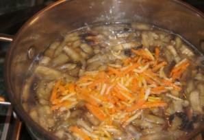 Суп с баклажанами и грибами   - фото шаг 7