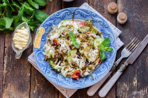 Салат с морской и пекинской капустой - фото шаг 7