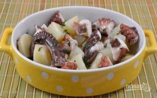 Салат из осьминога - фото шаг 7