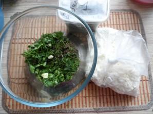 Творожная паста с зеленью - фото шаг 1