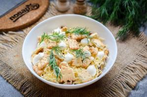 Салат с тунцом и крекерами - фото шаг 8