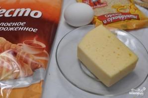 Слоеное тесто с сыром в духовке - фото шаг 1