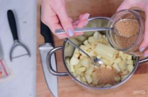 Печеные яблоки с хрустящими мюсли - фото шаг 3