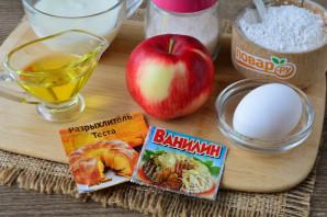 Печенье на кефире с яблоками - фото шаг 1