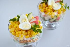 Крабовый салат порционный - фото шаг 6