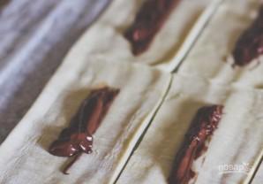 Слойки с шоколадно-ореховой пастой - фото шаг 2