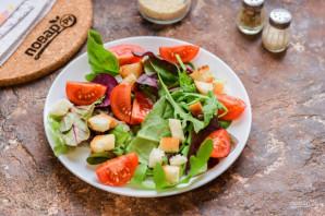 Салат с балыком - фото шаг 3