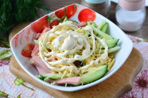 Салат из омлета и колбасы - фото шаг 10