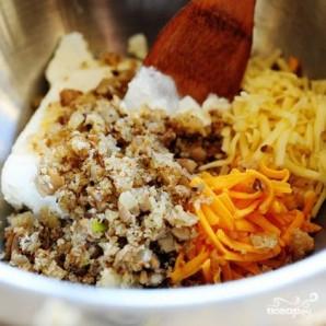 Запеченные грибы, фаршированные сыром и шпинатом - фото шаг 5