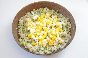 Пирог с рисом, зеленым луком и яйцом - фото шаг 6