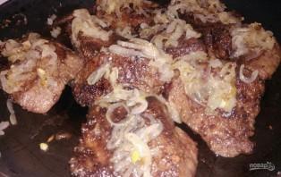 Жареная печень с прованским соусом - фото шаг 5