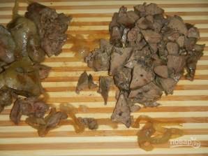 Печеночный салат слоями - фото шаг 3