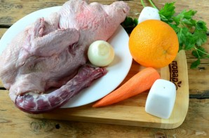Утка, тушеная с апельсинами - фото шаг 1