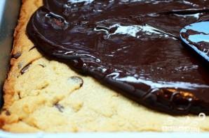 Шоколадные пирожные с арахисовым маслом и орехами пекан - фото шаг 3