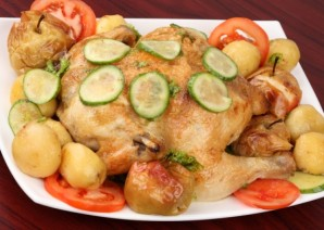Курица с овощами в мультиварке - фото шаг 8