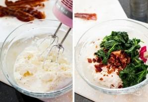 Дип с сыром, беконом и зеленью - фото шаг 3